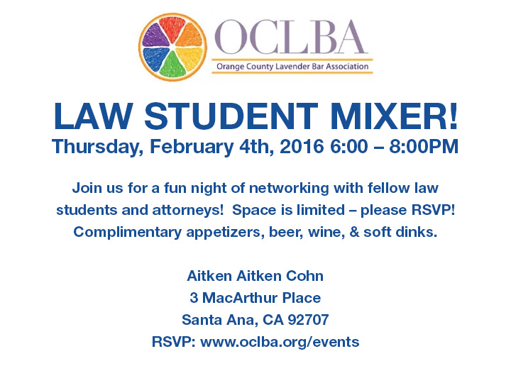 OCLBA Law Student Mixer
