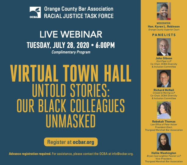 OCBA Town Hall – Untold Stories: Our Black Colleagues Unmasked